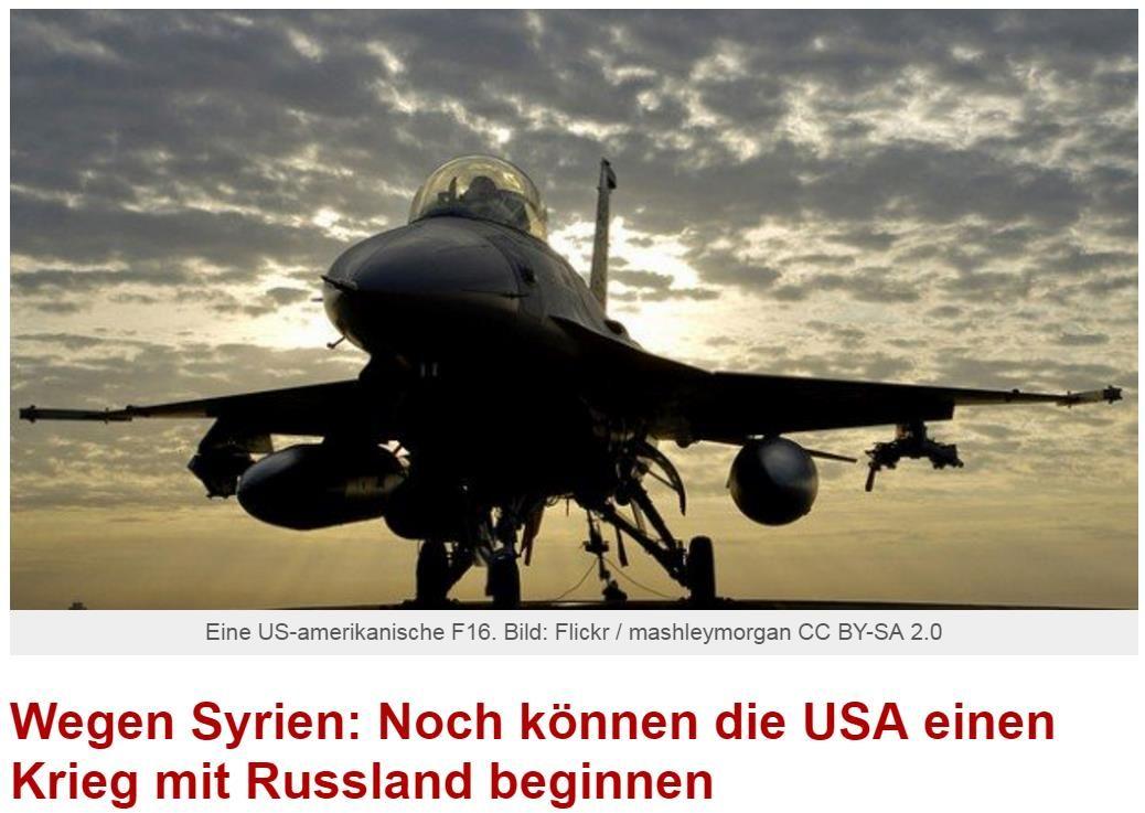 Иносми: В Сирии может начаться военная конфронтация между США и Россией