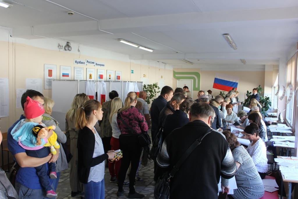В Кемерово зафиксирована рекордная явка по России
