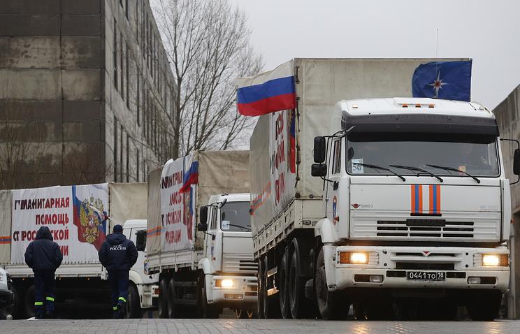 Гуманитарный конвой МЧС отправился в Донбасс