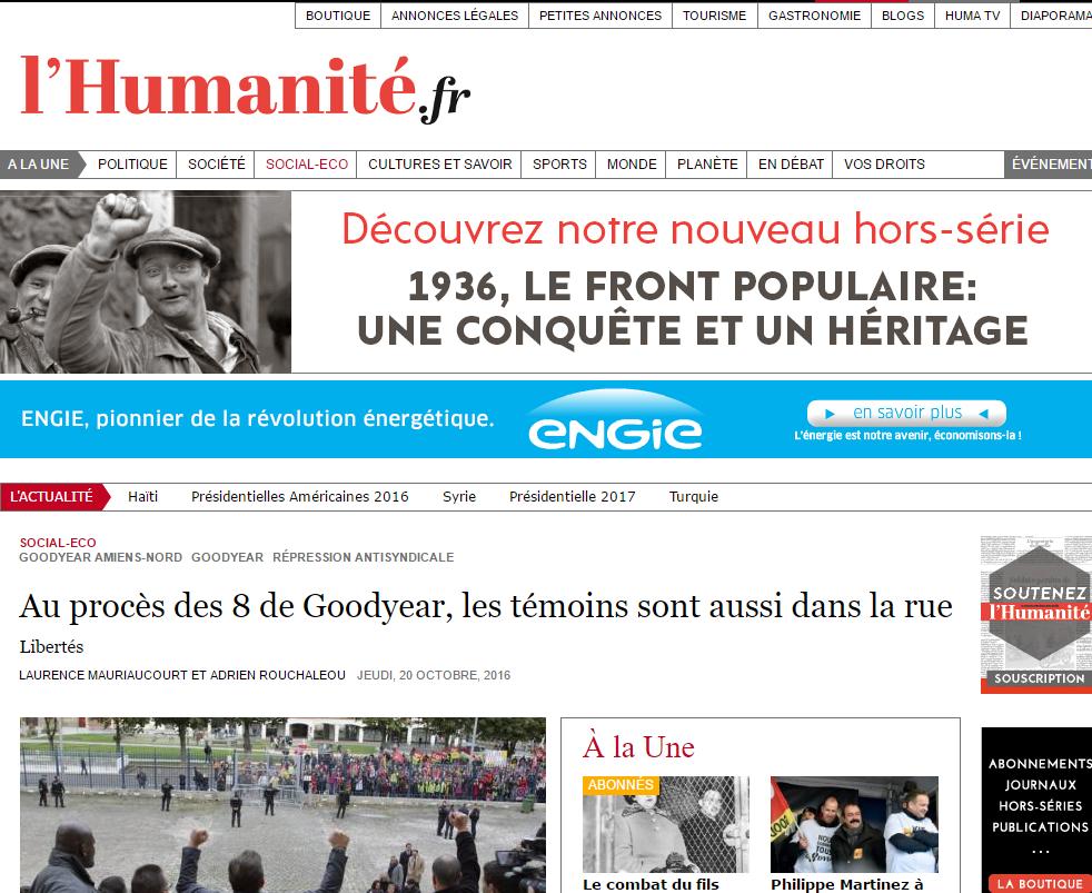 L'Humanité: Транснациональные корпорации пытаются криминализировать действия профсоюзов