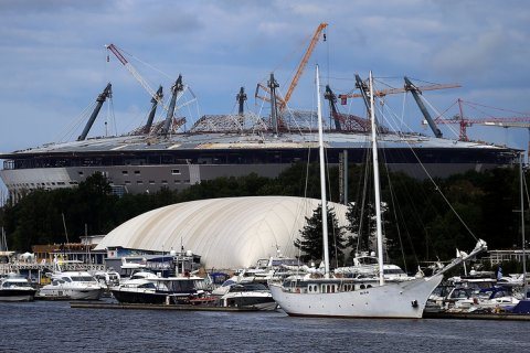 Приостановлено строительство стадиона «Зенит-Арена»