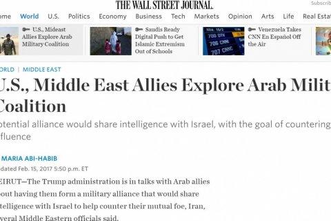 Трамп может организовать новый военный альянс на Ближнем Востоке по натовским образцам