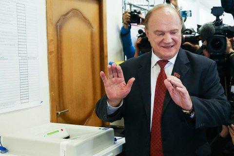 Геннадий Зюганов проголосовал в центре Москвы