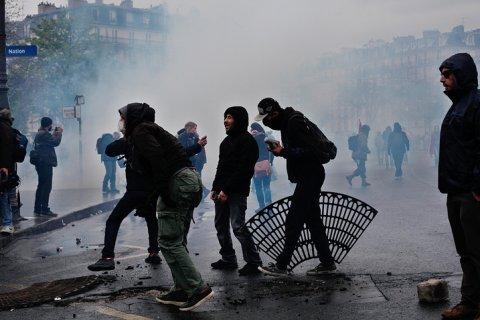 В Париже профсоюзам запретили провести манифестацию