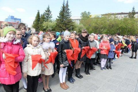В Новосибирске 450 школьников приняли в пионеры