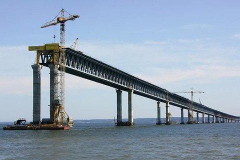 Строительство Керченского моста прекратили финансировать