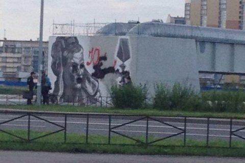 Буданову рядом с мостом Кадырова закрасили глаза