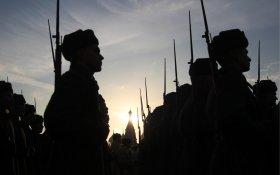 В Москве прошел марш в честь годовщины парада 1941 года
