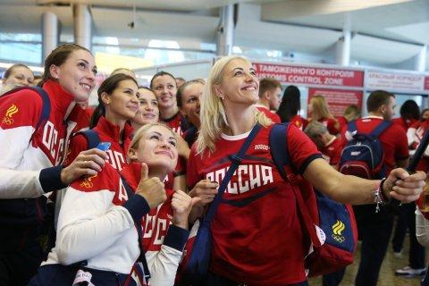 Российские олимпийцы отправились в Рио