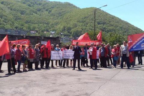 В Липецке, Петропавловске-Камчатском, Нерчинске КПРФ провела митинги и пикеты против повышения пенсионного возраста