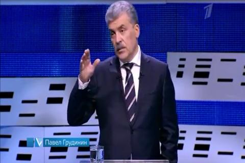 Как настоящий мужик. Грудинин извинился перед Собчак за Жириновского и покинул дебаты