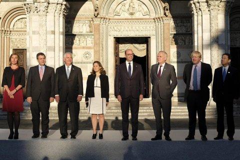 Главы МИД G7 не приняли решения о расширении санкций против РФ и Сирии