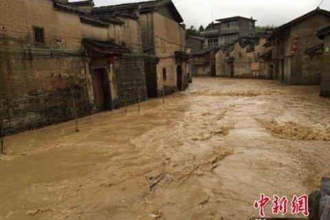 В Китае затопило тысячелетнюю деревню