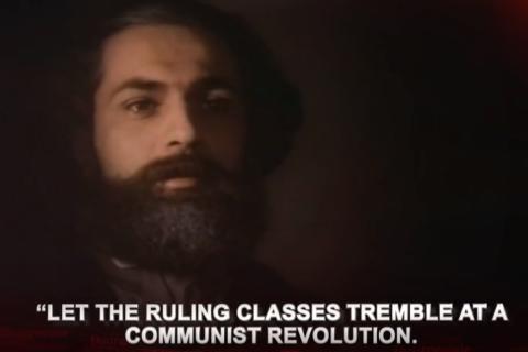 В сети набирает популярность видеосюжет «Красной Линии», посвященный 200-летию Карла Маркса