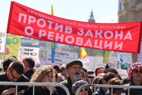 «Ни одного голоса против» — заявила Мэрия Москвы о первых итогах голосования по реновации. Лужков: Власть много раз обманывала людей