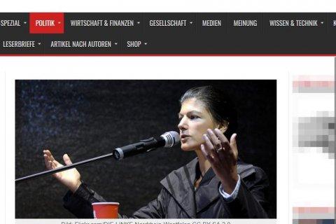 Иносми: Сара Вагенкнехт против «европейских взносов» на войну с Россией