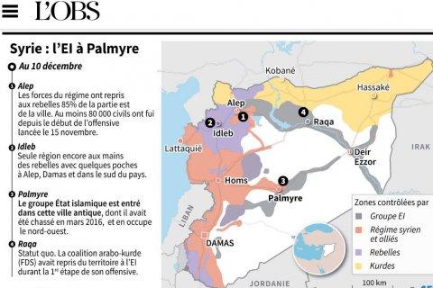 Иносми: Исход войны в Сирии решается в Алеппо, а не под Пальмирой