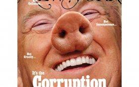 New York Magazine поместил на обложке фото Трампа в образе свиньи