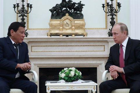 Президент Филиппин  предложил России дружбу и попросил современное оружие