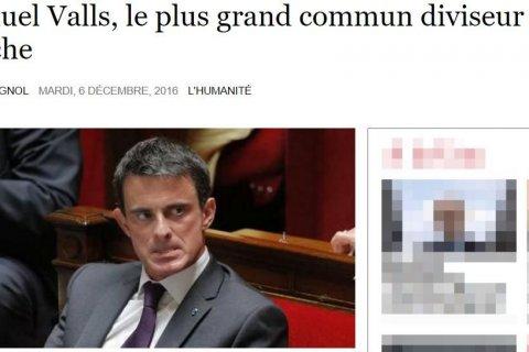 Иносми: Мануэль Вальс – самый правый из левых кандидатов в президенты Франции