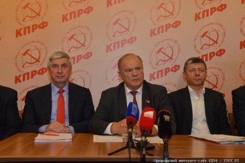 Геннадий Зюганов: «Мы настаиваем на восстановлении нормальных, демократических выборов»