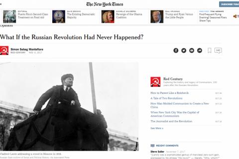 Зарубежные СМИ о 100-летии Великой Октябрьской социалистической революции