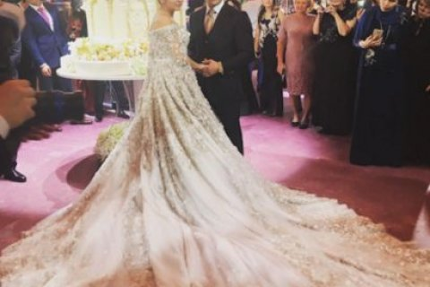 Дочь таджикского олигарха вышла замуж в платье, стоимость которого равна пенсии за 256 лет