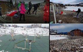 Кемеровские чиновники благоустроили детскую площадку при помощи фотошопа и объяснили: так нужно было