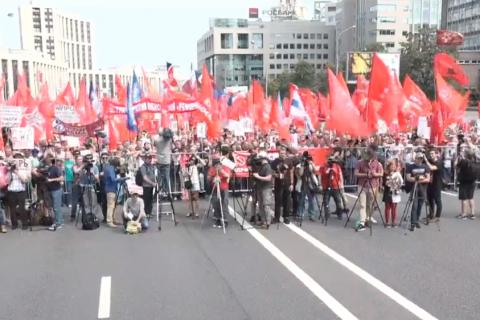 Сотни тысяч человек вышли на Всероссийскую акцию протеста против повышения пенсионного возраста