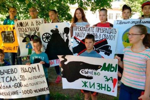 В Подмосковье протестующих против свалки «Сычево» разогнал ОМОН
