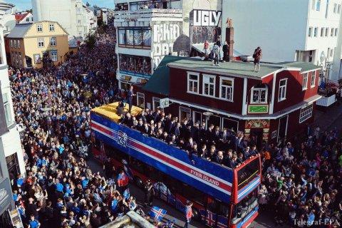 Сборную Исландии встретили дома как героев. Видео