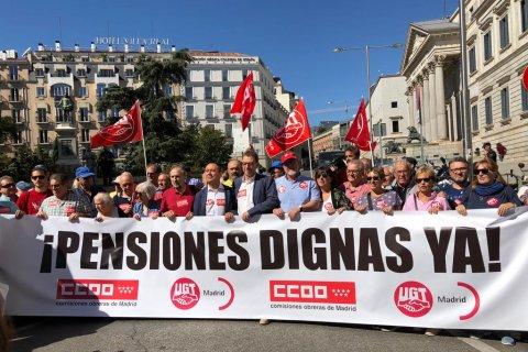 Профсоюзы организовали митинги против пенсионной реформы… в Испании