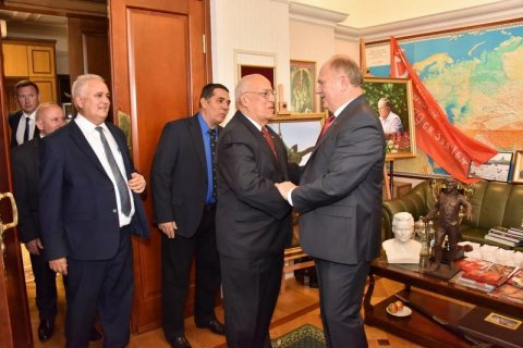 Геннадий Зюганов встретился с заместителем председателя Совета Министров Республики Куба Рикардо Кабрисасом Руисом