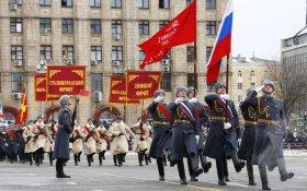 На параде в Волгограде со Знамени Победы исчезли звезда, серп и молот